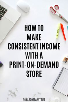 How to make consistent income with a print-on-demand store - Print on demand - Ideas of Selling Your Home - How to use print-on-demand to generate consistent passive income for your business. Tshirt Business, Etsy Business, Craft Business, Online Business, Make Money From Pinterest, Make Money From Home, Make Money Online, How To Make Money, Start Own Business