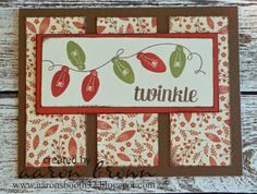 Booth #32: Twinkle Lights Card #ctmhWhitePines