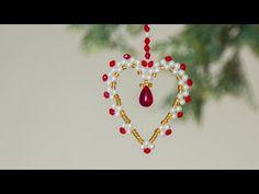DIY beaded christmas ornament | How to make christmas ornament | - YouTube
