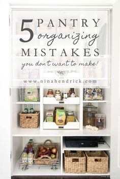 I made some simple changes to my new pantry to have even more storage. Here are the 5 pantry organizing mistakes I didn't know I was making! #farmhouse #farmhousedecor #modernfarmhouse #homedecor
