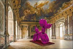 'Balloon dog' by American artist Jeff Koons (b.1955) at Versailles. via the coop report