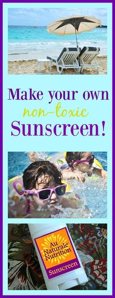 Make your own non-toxic sunscreen at home!  An easy recipe with simple ingredients.  Stay safe in the sunshine!