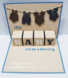 I love this adorable baby card - SO easy with this cartridge!