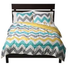 Tc3 Twin Xl Queen King Size Chevron Comforter White Green Yellow Modern Unique