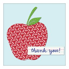 "#Teacher ""thank you"" apple."