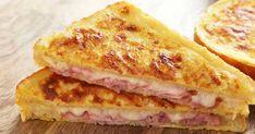 Υλικά 8 φέτες ψωμί του τοστ (χωρίς κόρα) 5 φέτες ζαμπόν 4 φέτες μπέικον 2 φλιτζάνια τριμμένα μαλακά τυριά 3 ντομάτες κομμένες σε φέτες (ή αν προτιμάτε ντοματίνια) Πιπέρι ρίγανη ½ κούπα γάλα 2 αυγά Βούτυρο Εκτέλεση Αλείφουμε τις φέτες του ψωμιού με βούτυρο και από τις Recipes With Bread Toast, Greek Cooking, Easy Cooking, Greek Recipes, Desert Recipes, Mozarella, Tasty Videos, Mini Foods, Sweets Recipes
