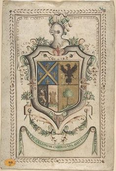 Coat of Arms Surmounted by a Plumed Helmet Poster Print by Anonymous, Spanish, 18th century (18 x 24)