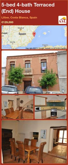 Terraced (End) House for Sale in Lliber, Costa Blanca, Spain with 5 bedrooms, 4 bathrooms - A Spanish Life Modern Townhouse, Heating And Air Conditioning, Log Burner, Beautiful Pools, Study Office, Family Bathroom, Al Fresco Dining, Double Bedroom, Terrace