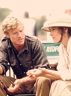 "behind the scene - Redford ans Strip making ""Out of Africa"""