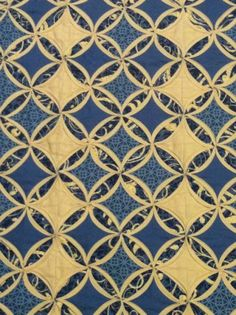 Cathedral Window quilt by Keva