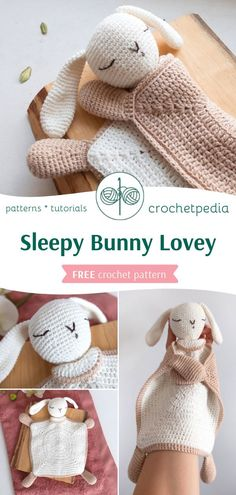 Sleepy Bunny Lovey - Free Crochet Pattern - Crochetpedia Are you ready for the cutest amigurumi lovey? You can find FREE written pattern and photos from the process on our website. Crochet Lovey Free Pattern, Easter Crochet Patterns, Crochet Patterns Amigurumi, Free Crochet, Crochet Baby Toys, Crochet Bebe, Crochet Dolls, Crochet Security Blanket, Baby Blanket Crochet