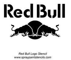 Boys Wallpaper, Wallpaper Gallery, Car Bumper Stickers, New Sticker, Red Bull Images, Redbull Logo, Stencil Logo, Stencil Art, Spray Paint Stencils