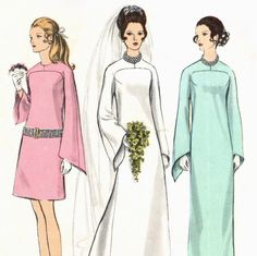 Early 1970s wedding dress & headpiece pattern -- Vogue Bridal Design 2315 -- PLUS SIZE. $40.00, via Etsy.