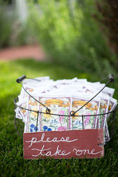 seed packets as favors for wedding guests! // photo by Heather Roth