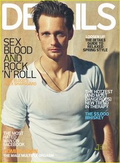 Alexander Skarsgard 'Details' cover: Giant and beautiful, indeed