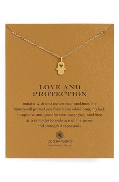 Dogeared 'Love and Protection' Pendant Necklace available at #Nordstrom