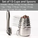 Measuring Cups and Measuring Spoons in Stainless Steel - kitchen – shopeershub Top Deals, Stainless Steel Kitchen, Measuring Spoons, Kitchen Accessories, Kitchen Fixtures, Cookware Accessories, Kitchen Supplies