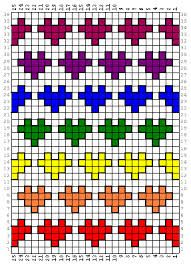 hearts knitting motif - Google Search