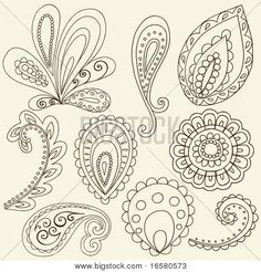 How to Draw Paisley   Hand-Drawn Abstract Henna Paisley Vector Illustration Doodle Design ...