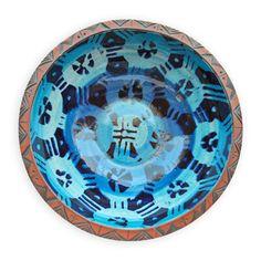 Sarie Maritz - Earthenware with underglaze masked slip decoration, Windhoek, Namibia