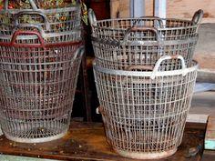 vintage metal wire baskets
