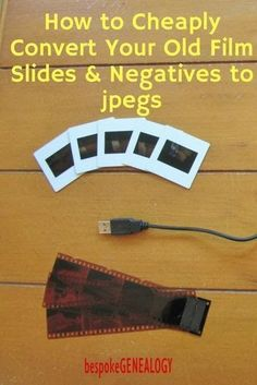 How to cheaply convert your old film slides and negatives to jpegs. This post from Bespoke Genealogy looks at how buying a low cost film scanner can allow you to easily digitize slides and negatives, saving you money. Photo Negative, Photography Lessons, Digital Photography, Photography Studios, Photography Tutorials, Iphone Photography, Editorial Photography, Newborn Photography, Photo Tips