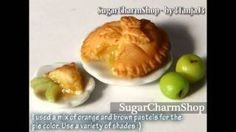 Polymer Clay *Apple Pie & Apples* Miniature Food Tutorial, via YouTube.