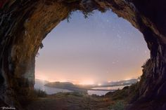 Nestor's Cave under the Stars - Nestor's Cave under the Stars Above the beach of Voidokilia is Nestor's Cave and above this are the ruins of… Under The Stars, Cave, Sunset, Ox, Apollo, Beach, Hermes, Landscapes, Outdoor