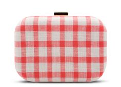 Red Gingham Clutch