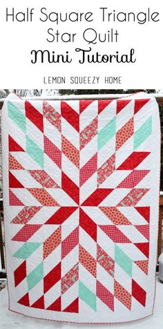 HST Star Quilt Mini Tutorial // lemon squeezy home