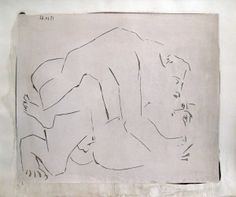 Pablo Picasso -  L'Etreinte, I (B. 1150; Ba. 1344), 1963 linocut in black and white on Arches paper 24 1/4 x 29 1/4 inches, signed in pencil and dated