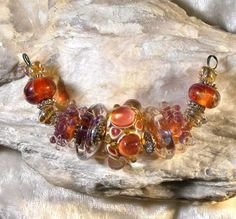 ~ Autumn Beautiful Lampwork Beads ~  by Laffinggull....This is another favorite....