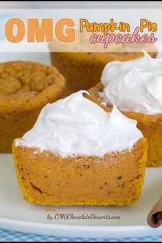 Pumpkin Pie Cupcakes  #Food #Drink #Trusper #Tip