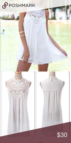 Lacey Rock Top Lacey Lou Brand S-XL Gorgeous White Lace Top Dress - show stopper!! Classic, elegant, chic Dresses Mini