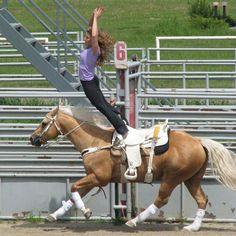 Sandra and Chaplin trick riding. Heartland 5x05 Never Let Go.