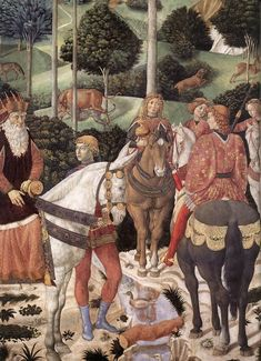 Benozzo Gozzoli - Procession of the Oldest King (detail) - WGA10267 - Category:Procession of the Oldest King by Benozzo Gozzoli - Wikimedia Commons
