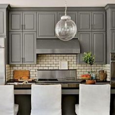 Walls Trim Cabinets Painted Revere Pewter Island Is Chelsea Gray Both By Benjamin Moore