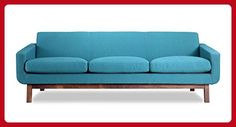 Kardiel Platform Mid-Century Modern Classic Sofa, Urban Surf Vintage Twill - Improve your home (*Amazon Partner-Link)