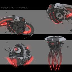 Some drone sketches I had done for Paragon's Belica. Did these awhile back, but forgot to upload them after she came out