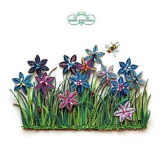 Quilling Colorful Flowers
