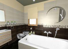 Fürdőszoba látványterv Zalakerámia Selma csempével.
