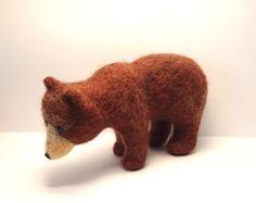 needle felting needle felt Nadelfilz animal Tier gefilzt Bär Bear Grizzly