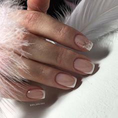 The Most Popular Nail Shapes – NaiLovely French Tip Acrylic Nails, French Tip Nail Designs, French Manicure Nails, Gelish Nails, Oval Nails, Cute Acrylic Nails, Cute Nails, Nail Art Designs, My Nails