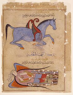 from al ajaib al makhluqat 1570 winged horse  angel.
