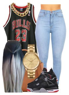 """""""Basket ball game"""" by trillest-princess101 ❤ liked on Polyvore featuring Tory Burch, NIKE and Lacoste"""