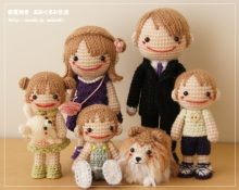 familia amigurumi pagina japonesa
