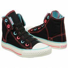 Amazon.com: CONVERSE Kids' EZ Slip Hi (Black/Neonpink/Blue 12.0 M): Shoes