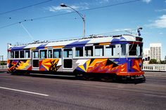 Lesley Dumbrell painted tram | Art of the Melbourne tram | The Australian