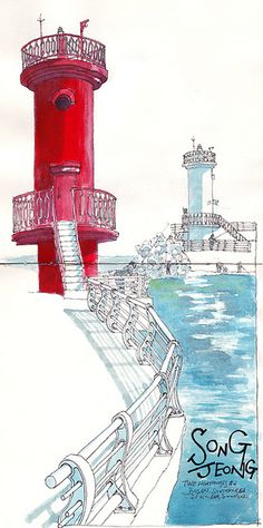 two lighthouses #2 by park sunga, via Flickr
