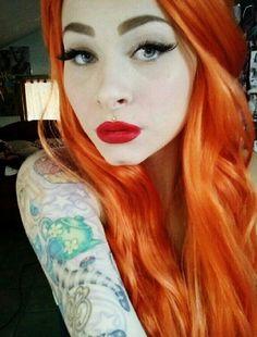 I love her orange hair! She is stunning! <3